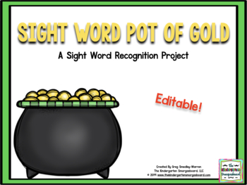 St. Patrick's Day Sight Words Assessment Project - Editable
