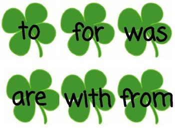 St. Patrick's Day Sightwords