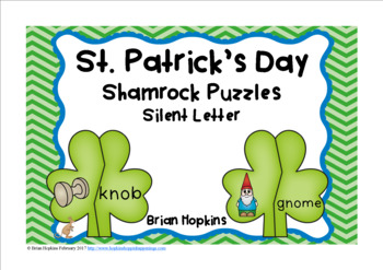 St. Patrick's Day Silent Letter Puzzles