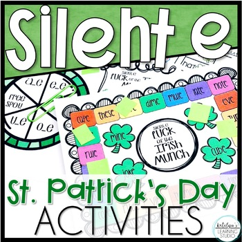 St. Patrick's Day Silent e Word Phonics Worksheets and Activities