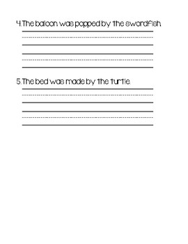 St. Patrick's Day Silly Sentences - From Active to Passive Words Worksheet