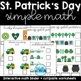 St. Patrick's Day Simple Math Adapted Binder-counting, ten