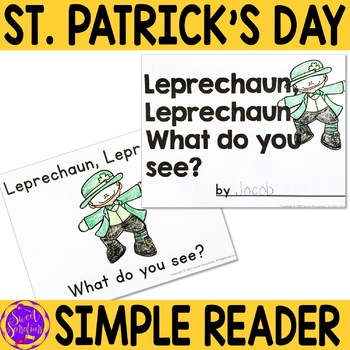 St. Patrick's Day Simple Reading for Kindergarten (Leprechaun)