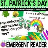 St. Patrick's Day Emergent Reader for Kindergarten
