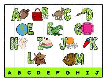 St. Patrick's Day Simple Strip Line Puzzles for Preschool & Kindergarten