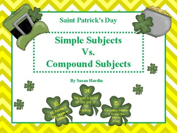 St. Patrick's Day Simple Subjects vs. Compound Subjects