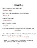 St. Patrick's Day Simple Webquest Answer Key