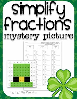 St. Patrick's Day Simplify Fraction Mystery Picture