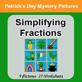 St. Patrick's Day: Simplifying Fractions - Color-By-Number