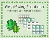 Simplifying Fractions - St. Patrick's Day Task Cards