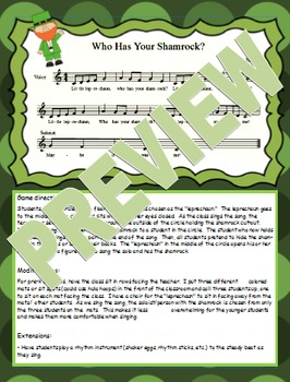 St. Patrick's Day Singing Game