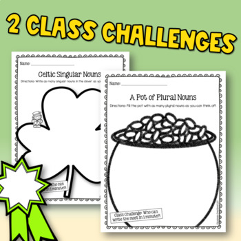 St. Patrick's Day Singular and Plural Nouns