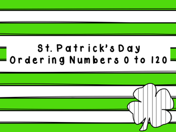 St. Patrick's Day Skip Count 0-120 by 10s FREEBIE!