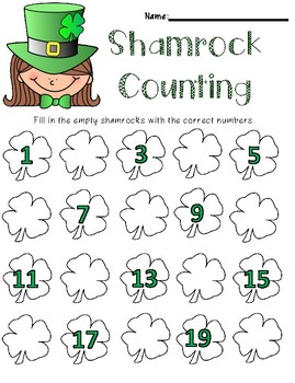St. Patrick's Day Skip Counting