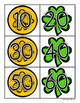 St. Patrick's Day: Skip Counting by 10's - Card Sort Center and Worksheet