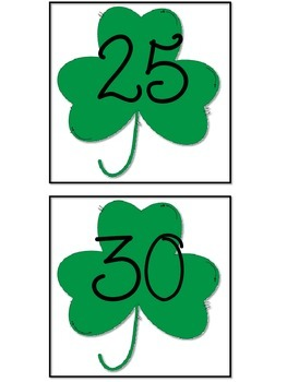St. Patrick's Day Skip Counting by 5s Shamrocks
