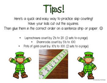 St. Patrick's Day Skip Counting {freebie!}