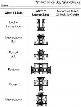St. Patrick's Day Snap Cube Blocks