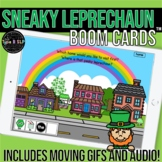 St Patrick's Day Sneaky Leprechaun Boom Cards™ for Speech Therapy