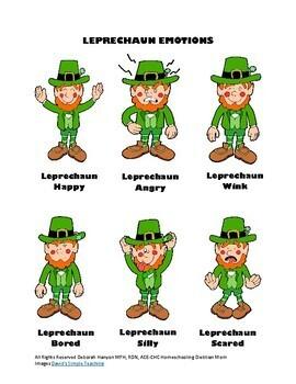 St. Patrick's Day - Social Skill Activities - Leprechaun Emotions