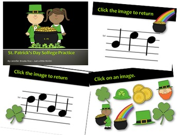 St. Patrick's Day Solfege Reading Practice Interactive Game--BUNDLE