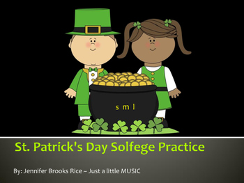 St. Patrick's Day Solfege Reading Practice Interactive Game {la}