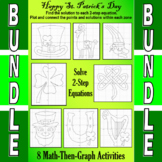 St. Patrick's Day - Solve 2-Step Equations - 7 Math-Then-G