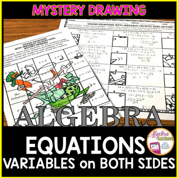 Solving Equations with Variables on Both Sides Mystery Drawing