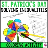 St. Patrick's Day Solving Inequalities Coloring Activity M