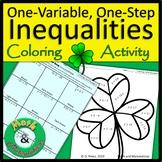 St. Patrick's Day Solving Inequalities One Step Inequaliti