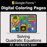 St. Patrick's Day: Solving Quadratic Equations - Digital C