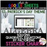 St. Patrick's Day Solving Quadratic Equations by Factoring