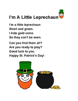 St. Patrick's Day Song Printable Freebie