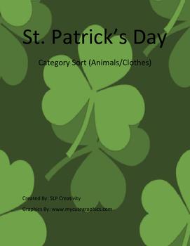 St. Patrick's Day Sort (Clothing/Animals)