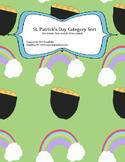 St. Patrick's Day Sort (Zoo/Farm/Ocean Animals)