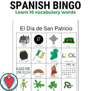 Spanish Bingo - St. Patrick's Day - El Dia de San Patricio