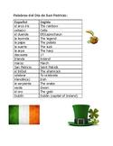 St. Patrick's Day Spanish puzzles San Patricio Wordsearch Crossword Scramble