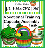 St. Patrick's Day Special Education Cupcake Assembly Work Box Task