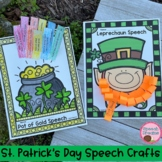 St. Patrick's Day Speech Crafts with articulation and lang