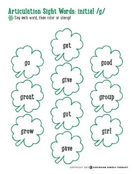 St. Patrick's Day Speech & Language