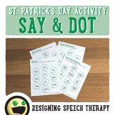 St. Patrick's Day Speech & Language Activities