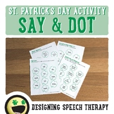 St. Patrick's Day Speech & Language Activities