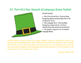 St. Patrick's Day Speech & Language Dice/ Coloring Pages