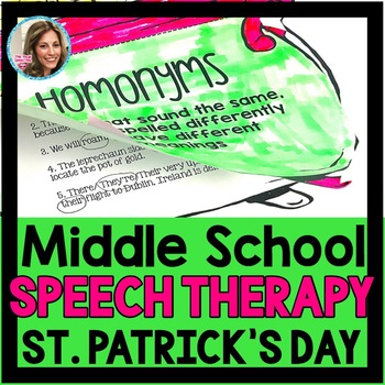St. Patrick's Day Speech Therapy | Middle School SLP