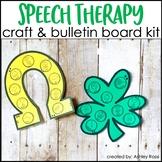 St. Patrick's Day Speech Therapy Craft & Bulletin Board Kit
