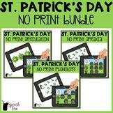 St. Patrick's Day Speech Therapy NO PRINT Bundle