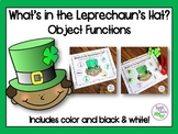 St. Patrick's Day Speech Therapy: Object Functions