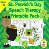 St Patrick's Day Speech Therapy Printable Pack