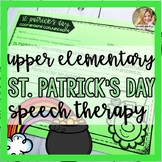 St. Patrick's Day Speech Therapy | Spring Speech and Language | March Activities