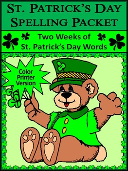 St. Patrick's Day Spelling Activity Packet